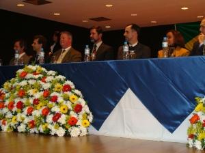 Diretor, Professores e Convidados na mesa